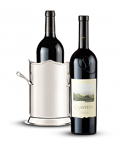 Double-Handled Luxury Wine Holder with Quintessa Meritage Red 2009