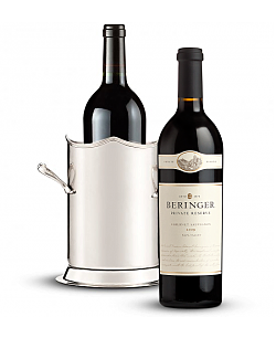 Double-Handled Luxury Wine Holder with Beringer Private Reserve Cabernet Sauvignon 2009