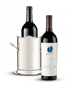 Double Handled Luxury Wine Holder with Opus One 2010