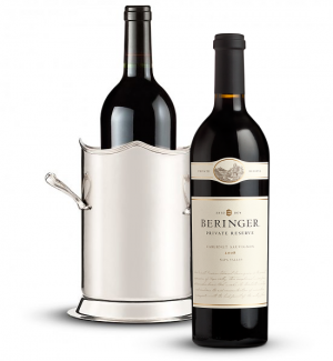 Double-Handled Luxury Wine Holder with Beringer Private Reserve Cabernet Sauvignon 2008