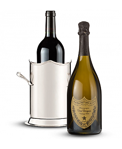 Double-Handled Luxury Wine Holder with Dom Perignon 2003