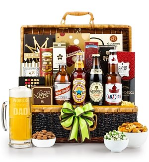 World's Greatest Dad Gourmet Beer Basket