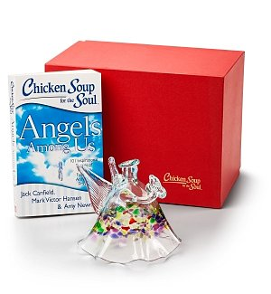 Hand-Blown Glass Angel with Chicken Soup for the Soul® Angels Among Us