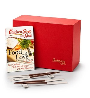 Engraved Chopsticks with Chicken Soup for the Soul® Food and Love