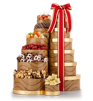 Chocolate Gourmet Favorites Gift Tower