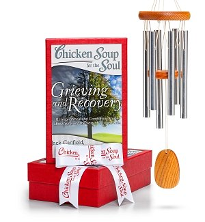 Engraved Wind Chimes with Chicken Soup for the Grieving Soul®
