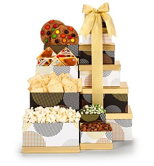 Deluxe Gourmet & Cheese Gift Tower
