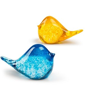 Kissing Glass Birds