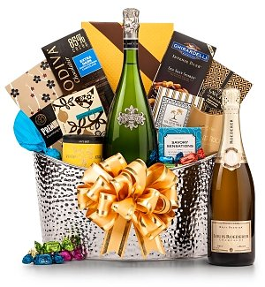 Toast of Elegance Holiday Champagne Basket