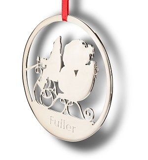 Sterling Personalized Santa Ornament