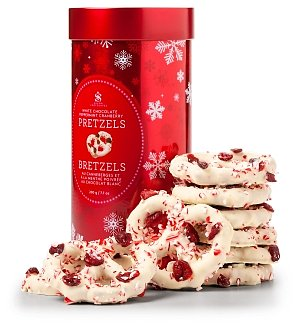 White Chocolate Peppermint Holiday Pretzels