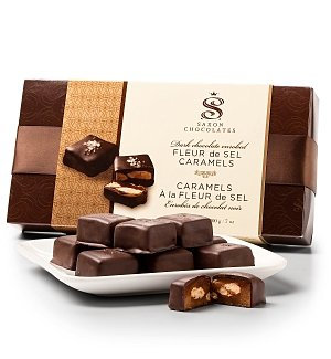 Dark Chocolate Almond Caramels Gift Box