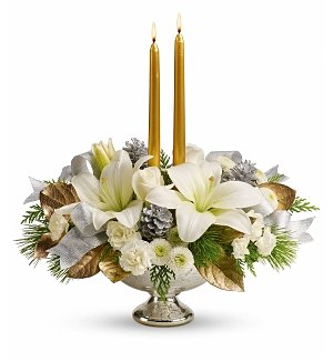 Silver and Gold Holiday Centerpiece