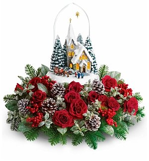 Thomas Kinkade Starry Night Holiday Centerpiece