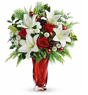 Yuletide Flair Holiday Bouquet