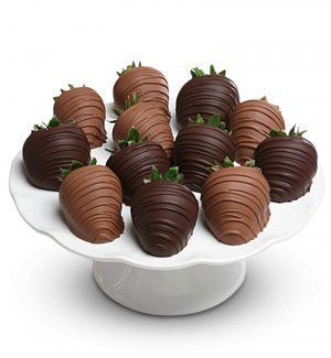 One Dozen Milk and Dark Chocolate Covered Strawberries