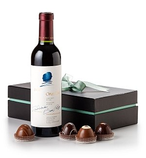 Opus One Half-Bottle with Handcrafted Chocolate Truffles