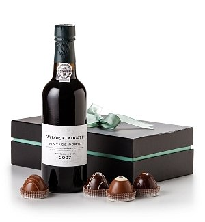 Taylor Fladgate Port Half-Bottle with Handcrafted Chocolate Truffles