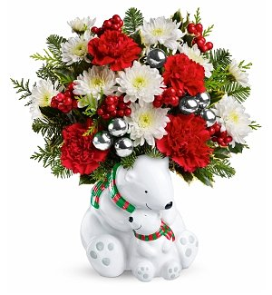 Send-a-Hug Cuddle Bears Bouquet