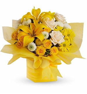 Sunshine Surprise Present Bouquet