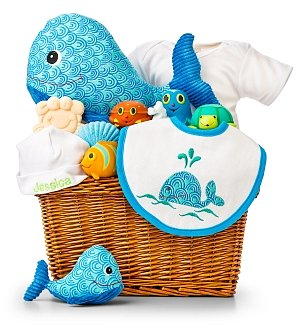 Under the Sea Baby Bath Embroidered Gift Set