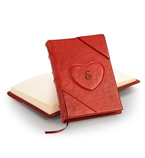 Personalized Handmade Leather Heart Journal