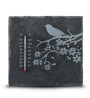 Natural Slate Outdoor Thermometer