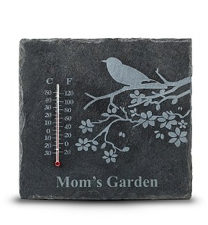 Engraved Slate Thermometer for Mom