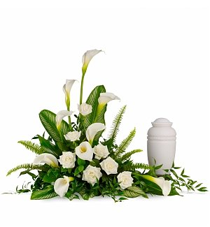 Ivory Lilies & Rose Bouquet