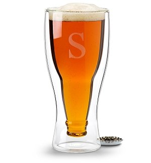 Personalized Hopside Down® Beer Glass