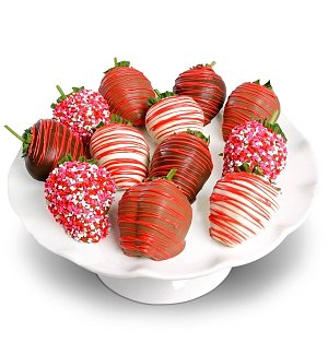 One Dozen Chocolate Love Strawberries