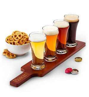 Personalized Wooden Beer Flight