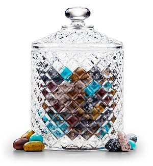 Gourmet Candies In Keepsake Crystal Candy Jar
