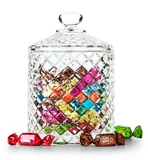 Gourmet Truffles In Keepsake Crystal Candy Jar