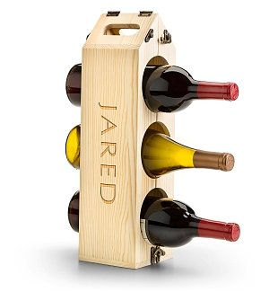 Wine Totes & Carriers: Personalized Wine Rack