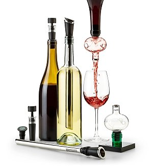 Wine Accessories & Decanters: Deluxe Wine Tool Gift Set