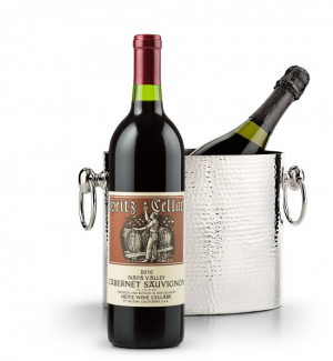 Wine Accessories & Decanters: Heitz Cellars Napa Valley Cabernet 2010 with Luxury Wine Chiller