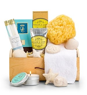 Spa Gift Baskets: Beach Spa Crate