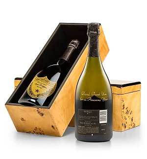 Personalized Wine Gifts: Engraved Dom Perignon Champagne Celebration