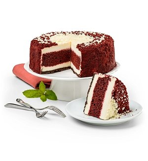Desserts Confections Gifts: Layered Red Velvet Cake and New York Cheesecake
