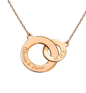 Personalized Keepsake Gifts: Rose Gold Intertwined Necklace