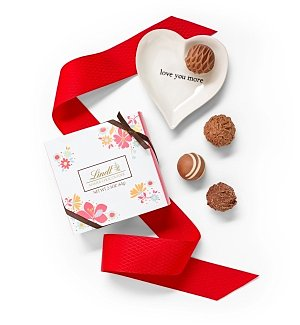 Chocolate & Sweet Baskets: Lindt Chocolates and Love You More Dish