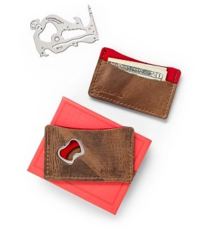 Personalized Keepsake Gifts: Leather Wallet and Utility Tool Gift