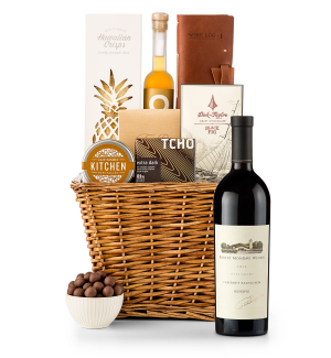 Premium Wine Baskets: Robert Mondavi Reserve Cabernet Sauvignon 2012 Sand Hill Road Luxury Gift Basket