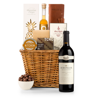 Premium Wine Baskets: Beringer Private Reserve Cabernet Sauvignon 2012  Sand Hill Road Luxury Gift Basket