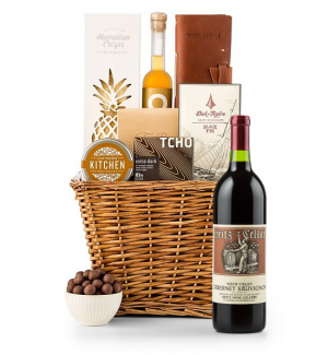 Premium Wine Baskets: Heitz Cellars Napa Valley Cabernet 2011 Sand Hill Road Luxury Gift Basket
