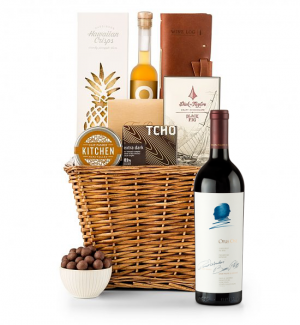Premium Wine Baskets: Opus One 2014 Sand Hill Road Luxury Gift Basket