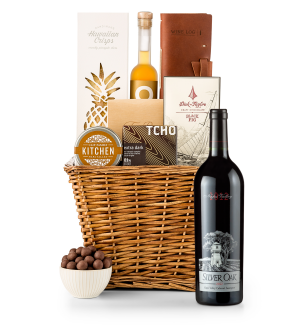 Premium Wine Baskets: Silver Oak Napa Valley Cabernet Sauvignon 2012 Sand Hill Road Luxury Gift Basket