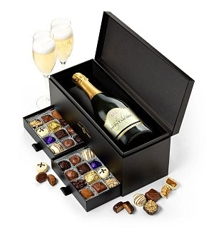 Champagne Gift Baskets: Luxe Champagne and Chocolate Pairing