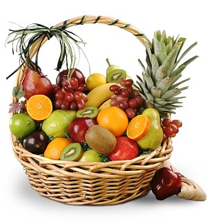 For a Special Couple Fruit Basket